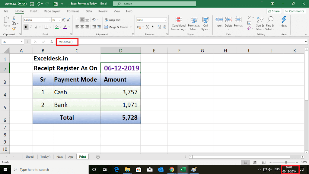 4 Simple (But Important) Things To Learn About Excel Formula Today()