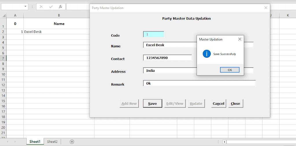 Customer Data File |  Excel VBA Data Transfer to Sheet User Form Open Source Code Workbook | Download Free|