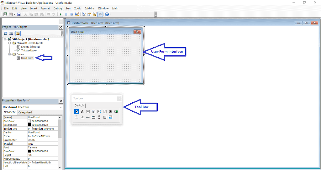 Tutorial 3. Excel VBA userform Part 1 | VBA Userform Properties | excel data entry form vba |