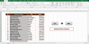 Many ways to delete rows and columns in Excel | how to delete column in excel ?